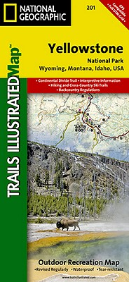 National Geographic Trails Illustrated Map Yellowstone National Park By National Geographic Maps